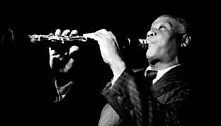 Sidney Bechet on the clarinet