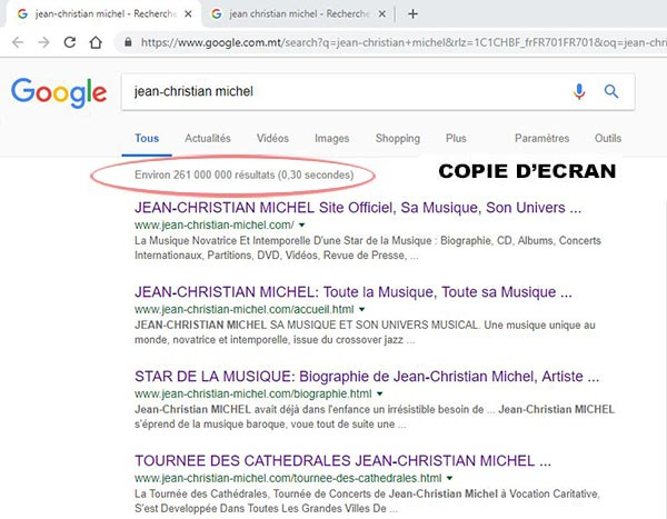 Jean-Christian Michel dans Google